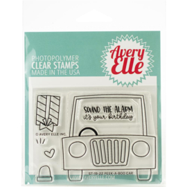 "Clear Stamp Set Peek-A-Boo Car 4""X3"""