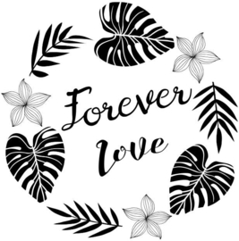 Wooden Stamp Forever Love