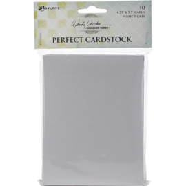 "Perfect Cardstock Grey Cards 4.25""X5.5"""