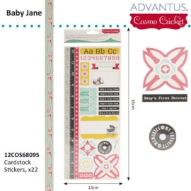 Baby jane cardstock stickers x22