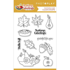 Autumn Greetings Photopolymer Clear Stamps