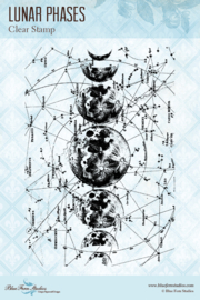 Lucky Star Lunar Phases clear stamp