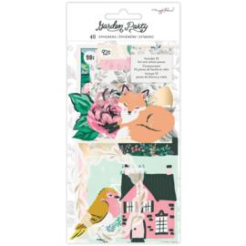 Garden Party Ephemera Cardstock Die-Cuts Cardstock & Vellum Gold Foil