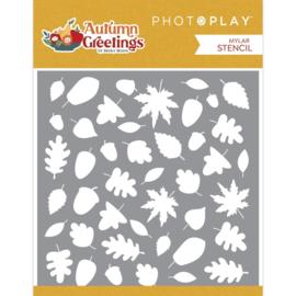 """Autumn Greetings Stencil 6""""X6"""""""