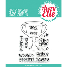 "Clear Stamp Set World's Greatest 4""X3"""