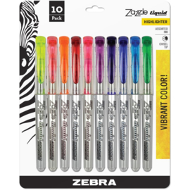 Zazzle Liquid Chisel Tip Highlighter Assorted