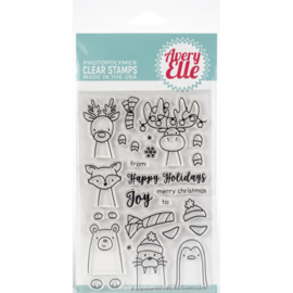 "Clear Stamp Set Polar Peek-A-Boo Pals 4""X6"""