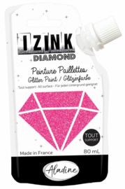 Izink Diamond Glitter Paint Fuchsia
