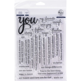 "Clear Stamp Set 6""X8"" You - Simply Sentiments"