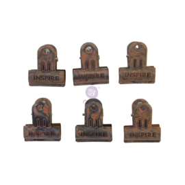 Art Daily Planner Metal Binder Clips Rusty