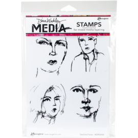 Cling Stamps Sketched Faces