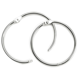 "Book Ring 3"" 1/Pkg Silver"