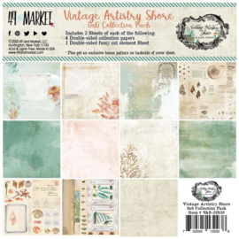 "Vintage Artistry Shore Collection Pack 6""X6"""