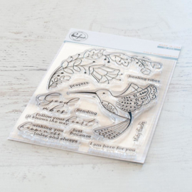 Clear Stamp Set Folk Hummingbird