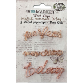 Perfect, Memories & Today In Rose Gold Paperclips