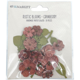 Rustic Blooms Paper Flowers Cranberry