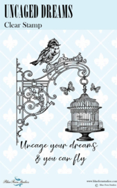 Uncaged Dreams Clear stamp