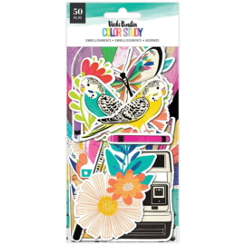 Color Study Ephemera Cardstock Die-Cuts Icons