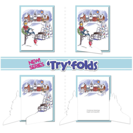 TryFolds Cling Rubber Stamps Village