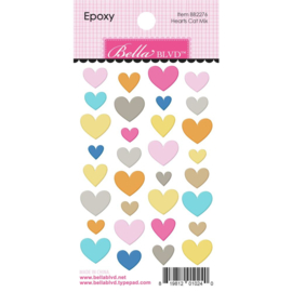 Chloe Hearts Cat Mix Epoxy Stickers