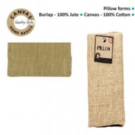 Pillow burlap rectangle