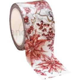 Red Winter Rose Washi Tape