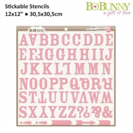 Stickable Stencil Alphabet