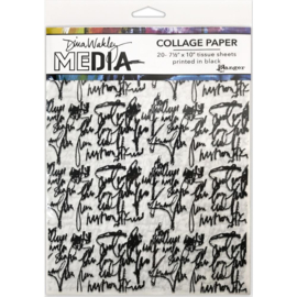 Collage Tissue Paper Just Words