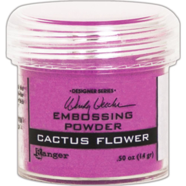 Embossing Powder Cactus Flower