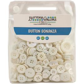 Button Bonanza White