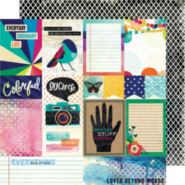 """Color Kaleidoscope Dbl-Sided Cardstock 12""""X12"""" Beyond Words"""