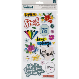 Brave & Bold Thickers Stickers Be Bold