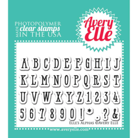 "Clear Stamp Set Elle's Alpha's 2""X3"""