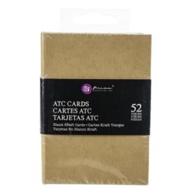"""Altered ATC Card Set 2.25""""X3.5"""" Kraft"""