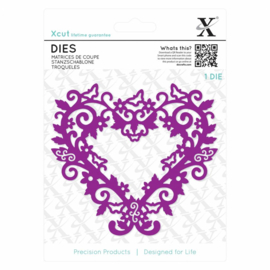 Dies Filigree Heart Frame