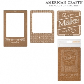Adhesive cork photo frame