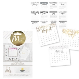 Minc calendar cards x12