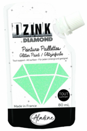 Izink Diamond Glitter Paint Pastel Green