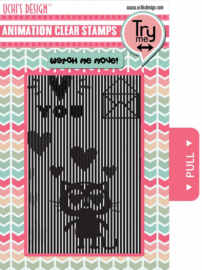 Animation Clear Stamp Loving Cat