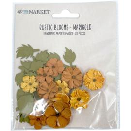 Rustic Blooms Paper Flowers Marigold