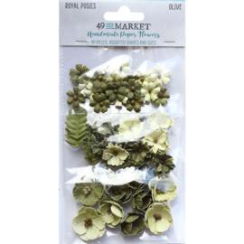 Royal Posies Paper Flowers Olive