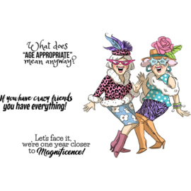 Girlfriends Cling Rubber Stamps Crazy Friends