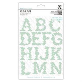 Dies Floral Alphabet A-N