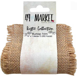 Burlap Ribbon Roll Natural fine