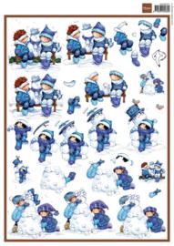3DHM072 Snoesjes & snowman