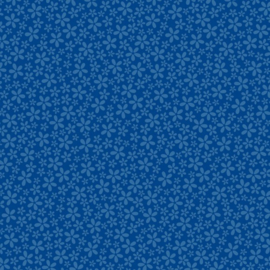 Patterned single-sided d.blue flower