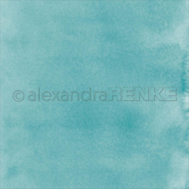 Travel Design Paper Mimi's Watercolor Turquoise