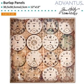Burlap panel watchmaker