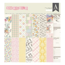 "Swaddle Girl Double-Sided Cardstock Pad 12""X12"""