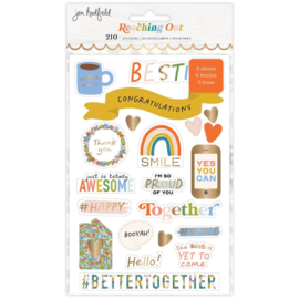 Reaching Out Sticker Book Gold Foil Accents